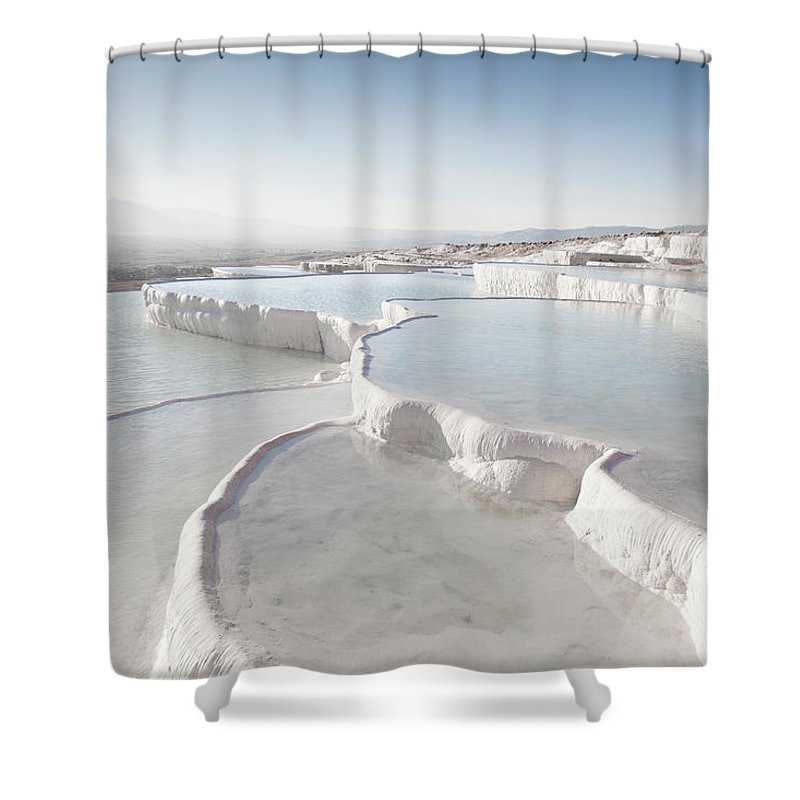 Mineral Shower Curtain featuring the photograph Pamukkale by Phooey