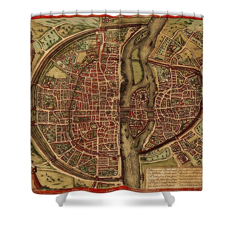 Scenics Shower Curtain featuring the digital art Paris Antique View by Nicoolay