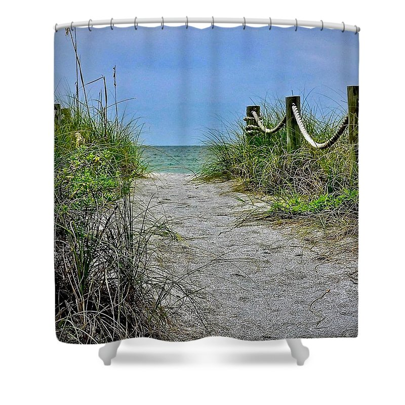 Beach Shower Curtain featuring the photograph Pathway To The Beach by Carol Bradley