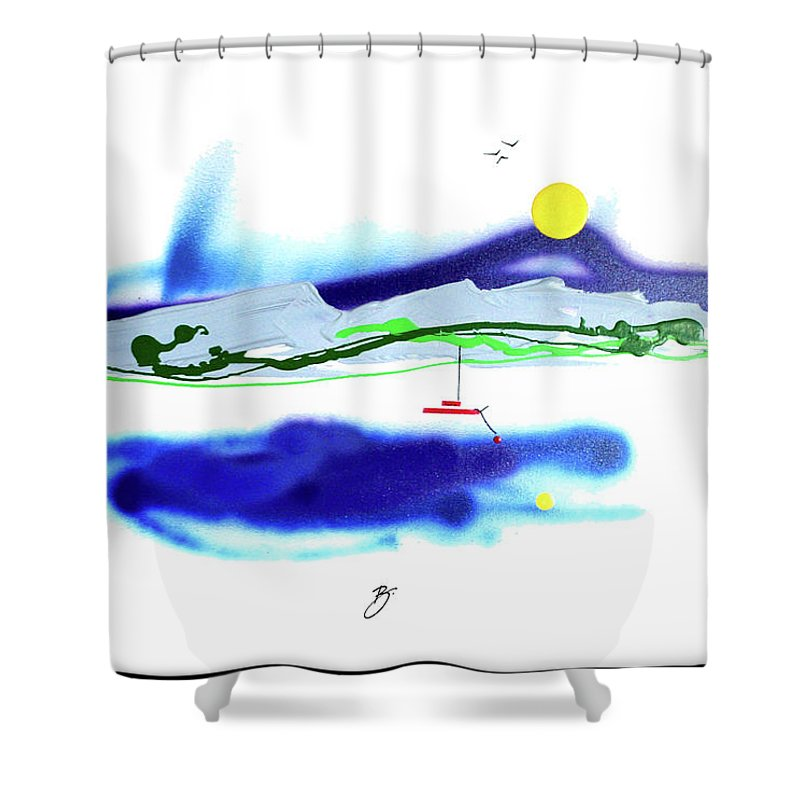 Mother Nature Love Shower Curtain featuring the painting Peace And Light by Dick Buckley