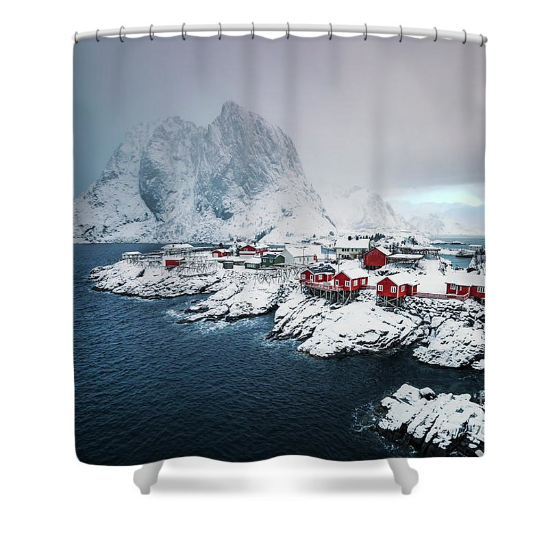 Kremsdorf Shower Curtain featuring the photograph Peace Of Winter by Evelina Kremsdorf