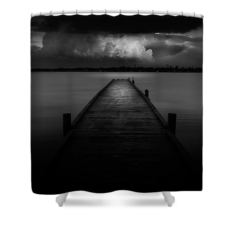 Pier Shower Curtain featuring the photograph Peaceful Retreat by Marvin Spates