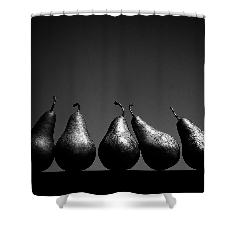 Five Objects Shower Curtain featuring the photograph Pears by Eddie O'bryan