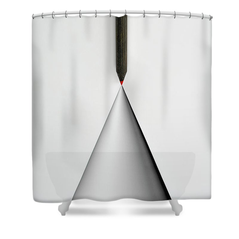 Art Shower Curtain featuring the photograph Pencil And The Structure Of The Cone by Yagi Studio