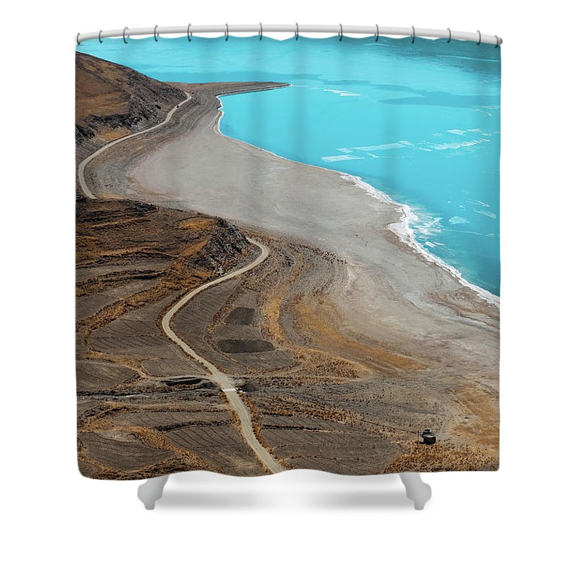 Tranquility Shower Curtain featuring the photograph Perfect Curve by Touch The Word By Heart.