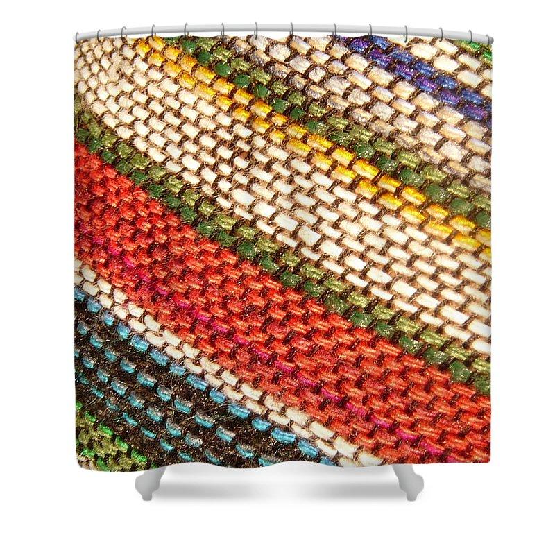 Art Shower Curtain featuring the photograph Peruvian Fabric Art by Images By Luis Otavio Machado