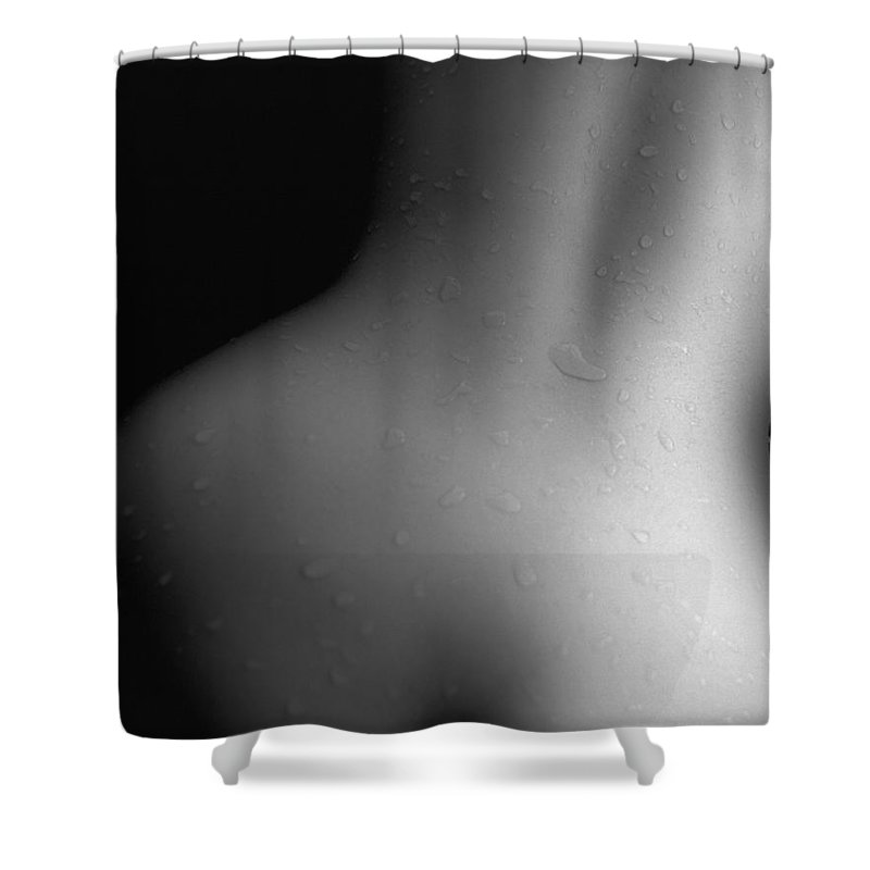 People Shower Curtain featuring the photograph Photography Of A Naked Womans Wet Back by Daj