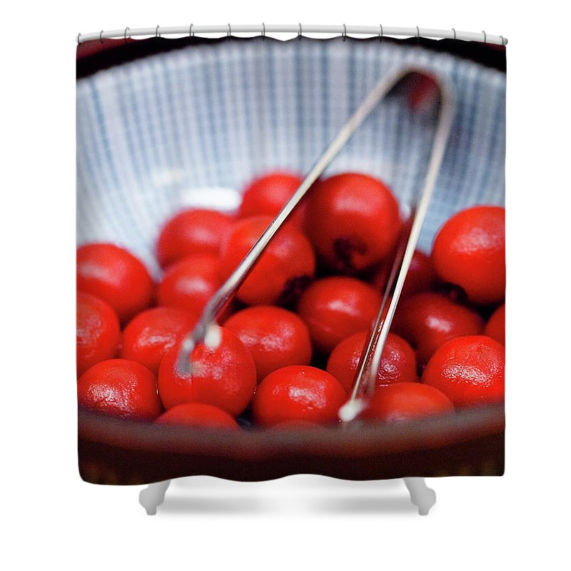 Plum Shower Curtain featuring the photograph Plum by Kyle Lin