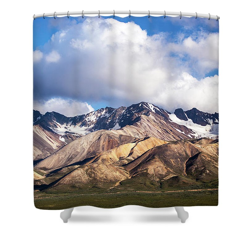 Tranquility Shower Curtain featuring the photograph Polychrome Overlook View by Daniel A. Leifheit