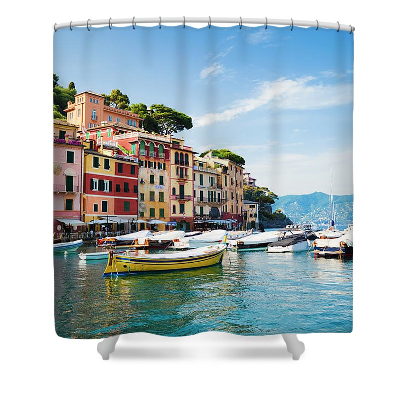 Water's Edge Shower Curtain featuring the photograph Portofino, Liguria, Italy by Brzozowska