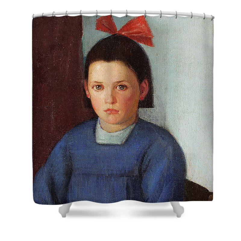 Portrait Of A Young Girl Shower Curtain