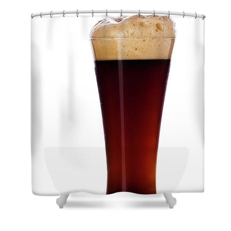 Stout Shower Curtain featuring the photograph Pouring The Lager by Eli asenova