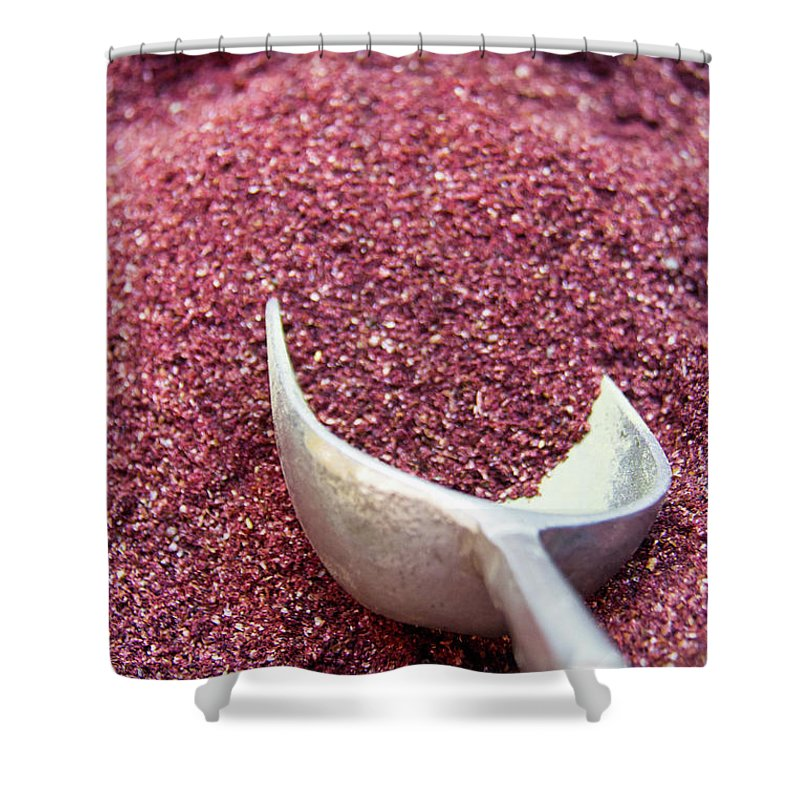 Spice Shower Curtain featuring the photograph Powder Spices by Lluís Vinagre - World Photography