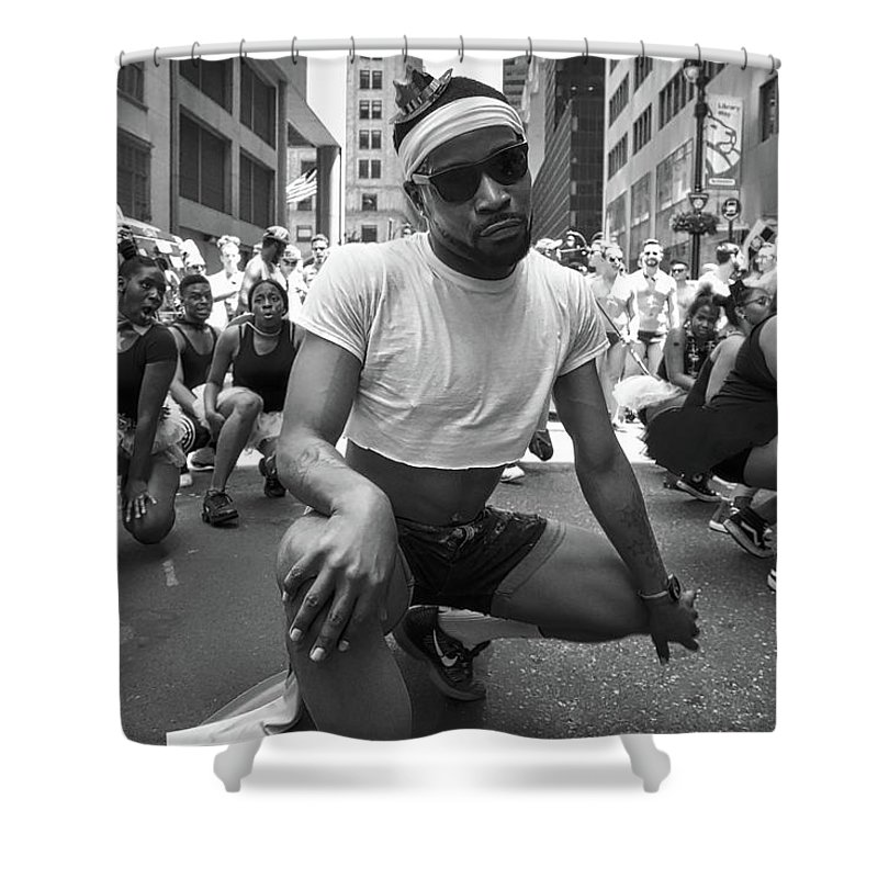 Black & White Shower Curtain featuring the photograph Pride by Resa Sunshine