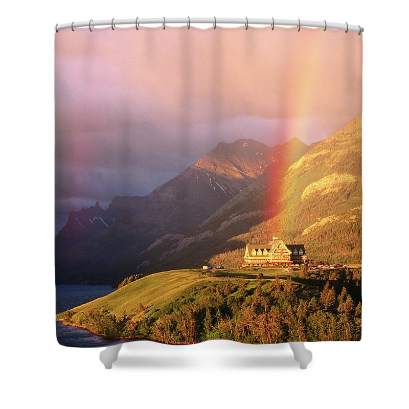 Scenics Shower Curtain featuring the photograph Prince Of Wales Hotel, At The End Of A by John Elk