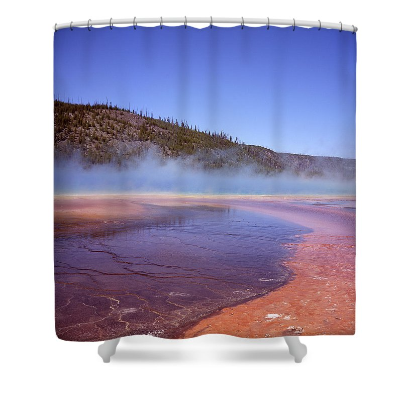 Tranquility Shower Curtain featuring the photograph Prismatic Spring Algae by L. Maile Smith