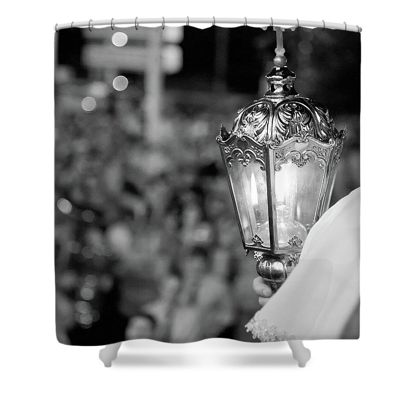 Lantern Shower Curtain featuring the photograph Procession Lamp by Gaspar Avila