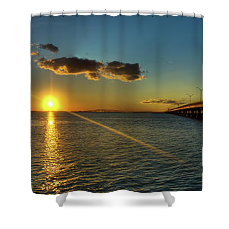 Panoramic Shower Curtain featuring the photograph Queen Isabella Causeway by Joshua Bozarth