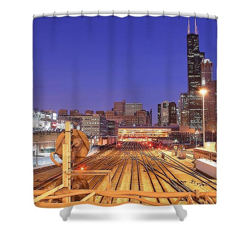 Railroad Track Shower Curtain featuring the photograph Rail Tracks by Joseph Balynas