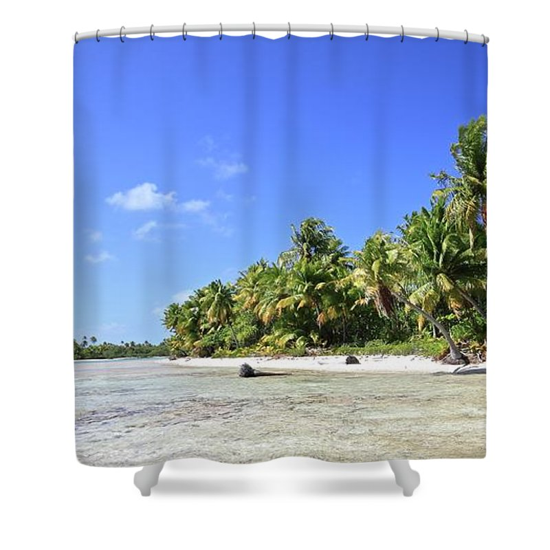 Tranquility Shower Curtain featuring the photograph Rangiroa - Isola Dei Coralli - Reef Isl by Loving And Living In This Planet