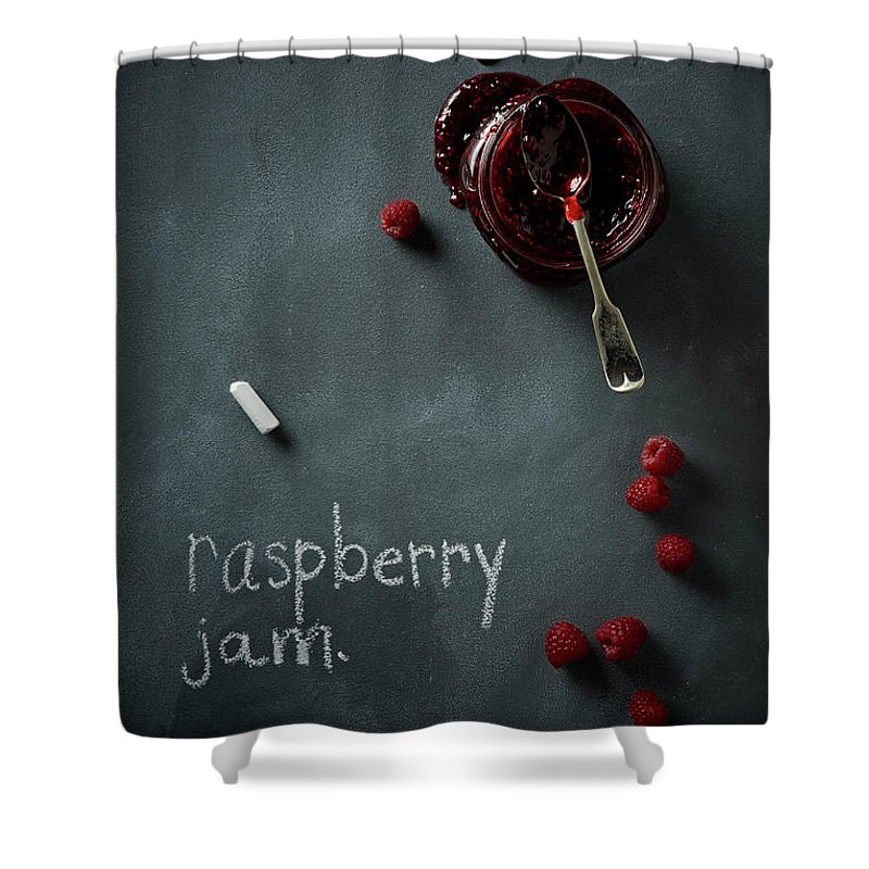 Spoon Shower Curtain featuring the photograph Raspberry Jam by Lew Robertson