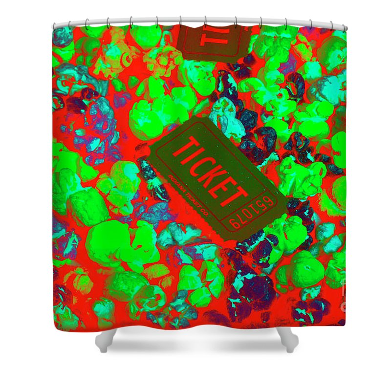 Ticket Shower Curtain featuring the photograph Red Hot Tickets by Jorgo Photography - Wall Art Gallery