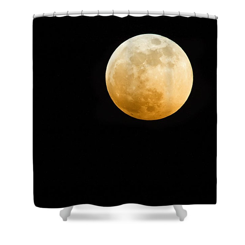 Shadow Shower Curtain featuring the photograph Red Moon by Stevedangers