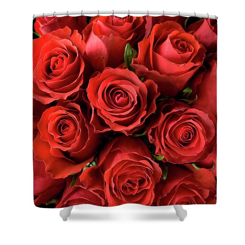 Event Shower Curtain featuring the photograph Red Roses by Malerapaso