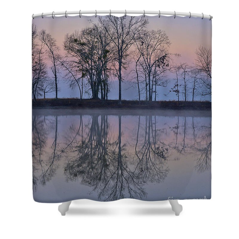 Alabama Shower Curtain featuring the photograph Reflections On The Lake by Ken Johnson