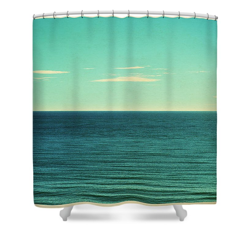 Scenics Shower Curtain featuring the photograph Retro Seascape Postcard by Farukulay