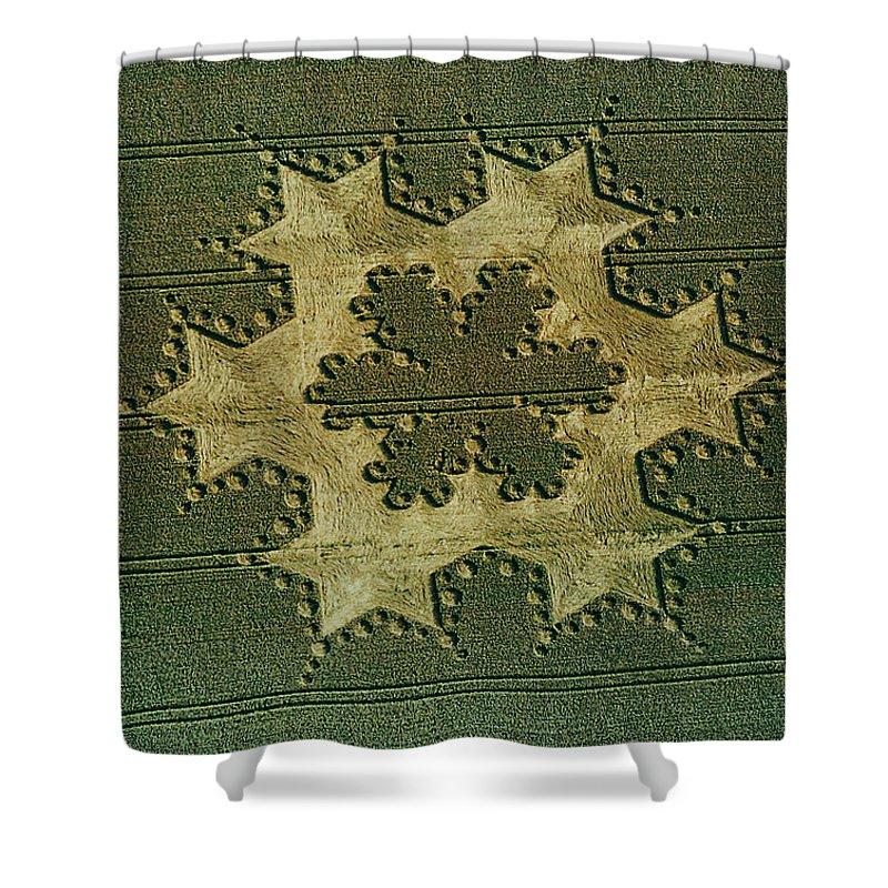 Spooky Shower Curtain featuring the photograph Ring Of Stars In Field by Digital Vision.