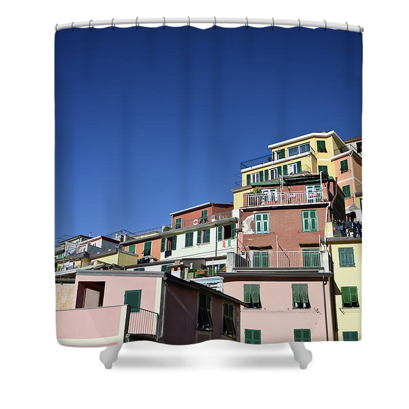 Empty Shower Curtain featuring the photograph Riomaggiore by Eduleite