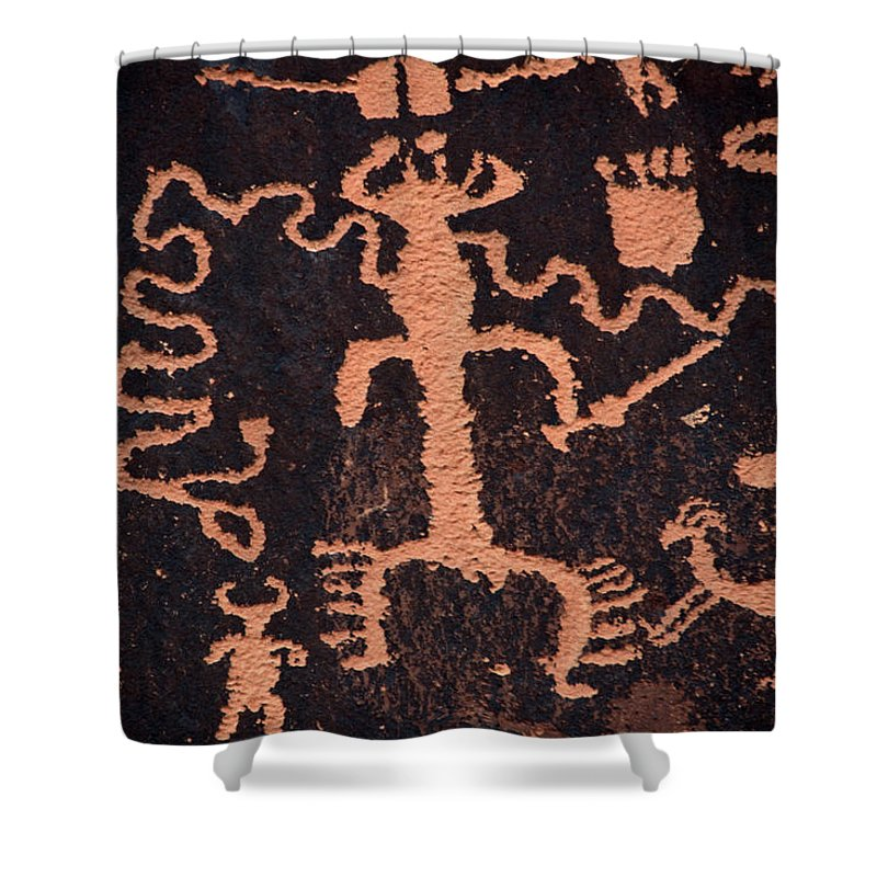 Outdoors Shower Curtain featuring the photograph Rock Art by Mark Newman