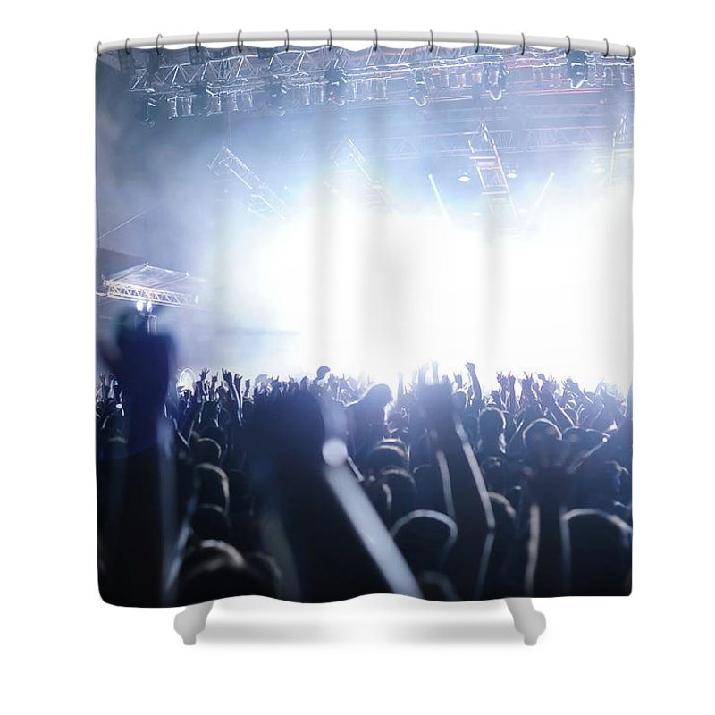 Rock Music Shower Curtain featuring the photograph Rocknroll Gig Rock Concert, Multiple by Upiir