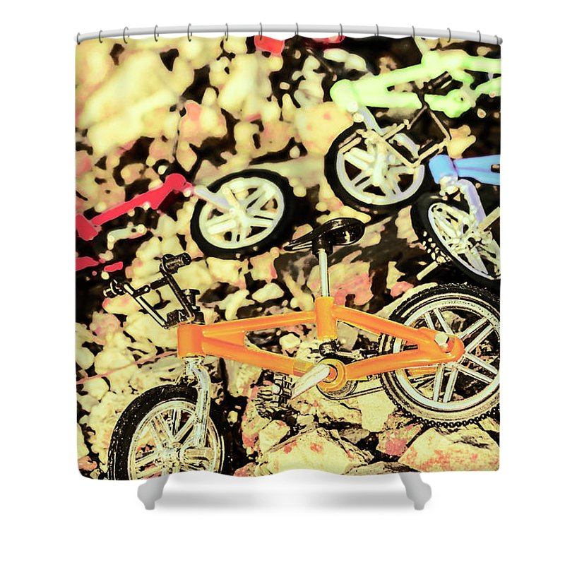Sport Shower Curtain featuring the photograph Rocky Racers by Jorgo Photography - Wall Art Gallery