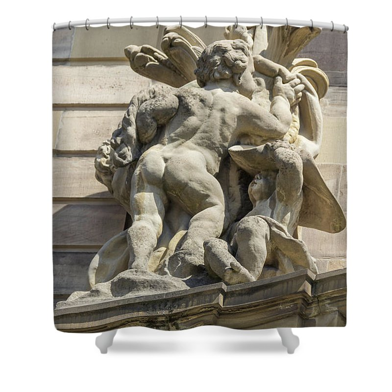 Alsace Shower Curtain featuring the photograph Rohan Palace Sculpture by Teresa Mucha