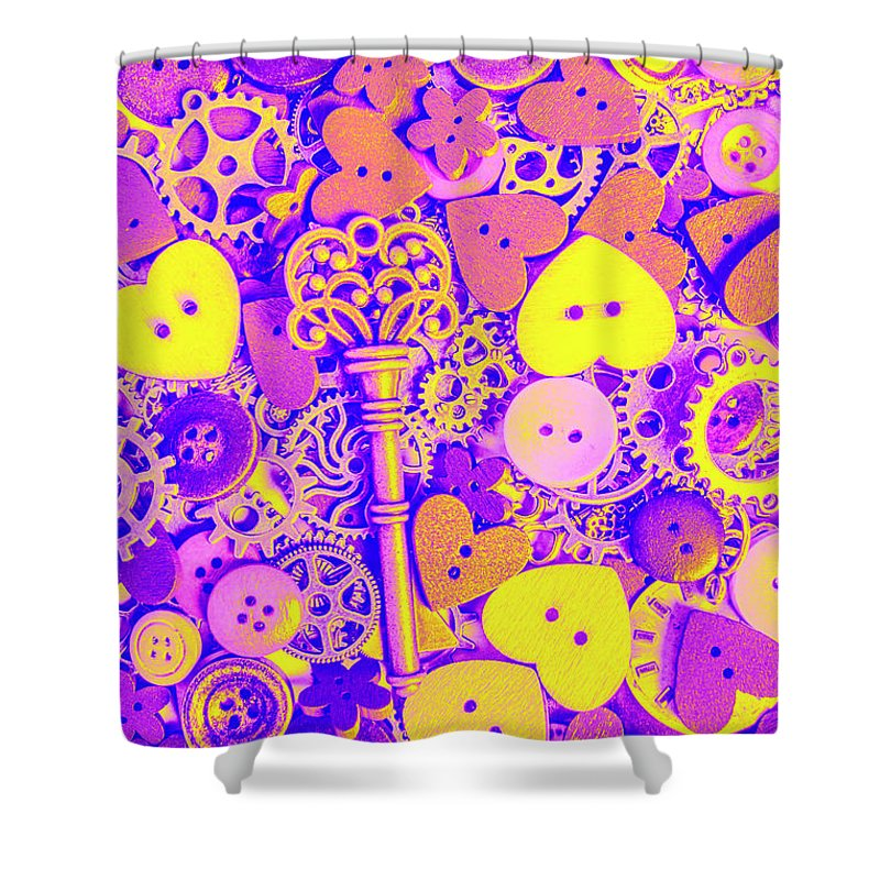 Heart Shower Curtain featuring the photograph Romance In Mechanics by Jorgo Photography - Wall Art Gallery