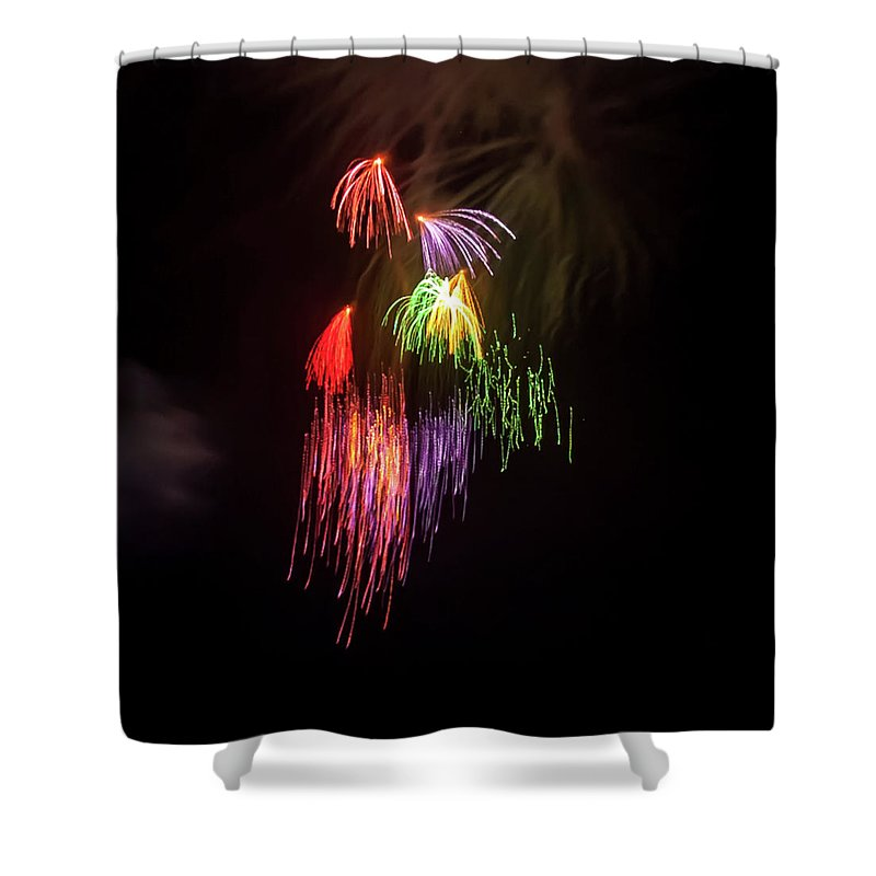 Fireworks Shower Curtains