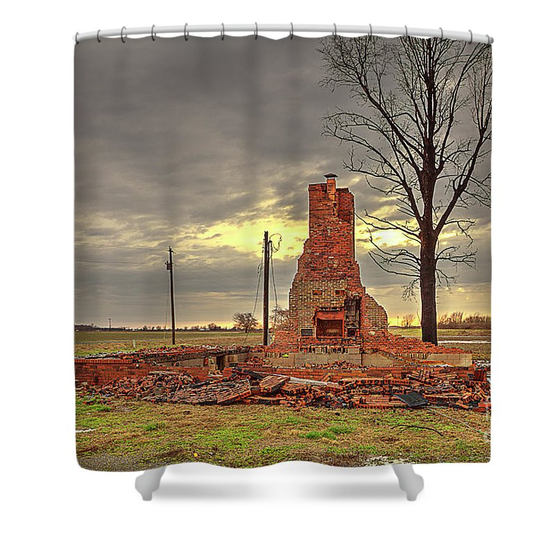 Explore Shower Curtain featuring the photograph Rubble by Larry Braun
