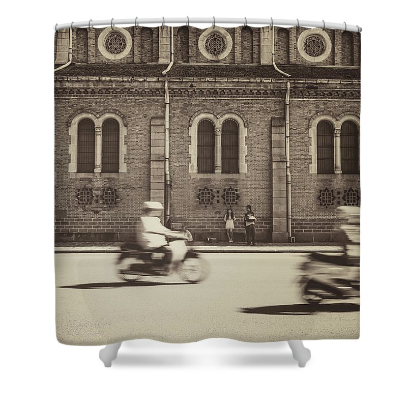 Ho Chi Minh City Shower Curtain featuring the photograph Saigon Old Corner by Jethuynh