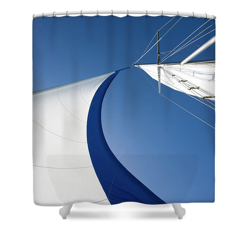 Curve Shower Curtain featuring the photograph Sailing by Tammy616