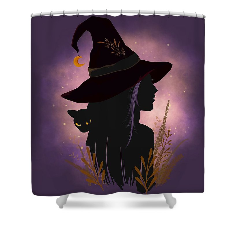 Painting Shower Curtain featuring the painting Samhain Summers End Celtic Harvest Festival by Little Bunny Sunshine