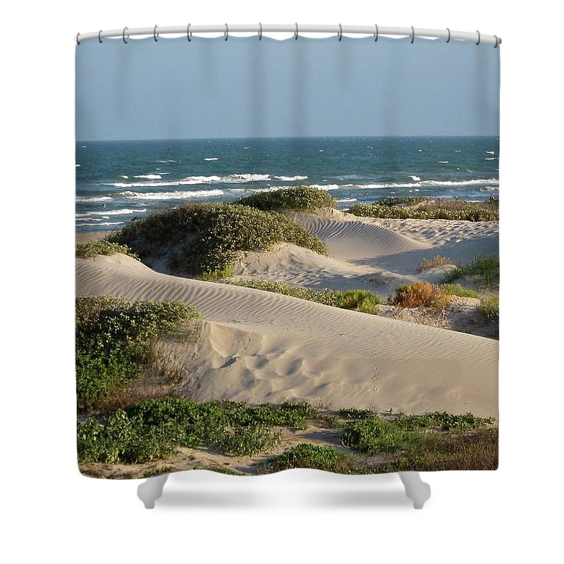 Tranquility Shower Curtain featuring the photograph Sand Dunes by Joe M. O'connell