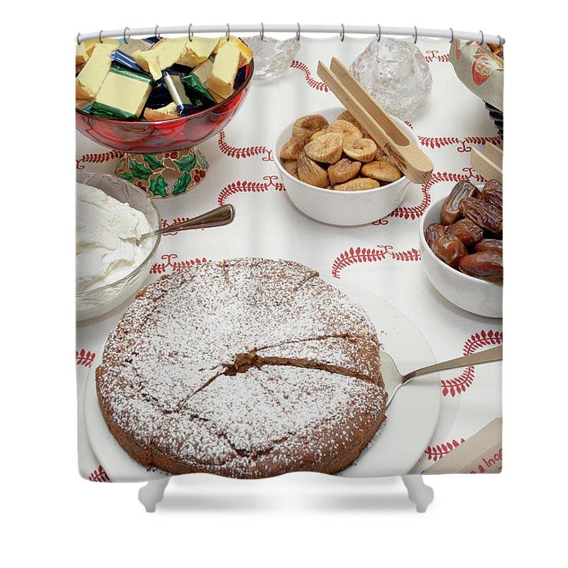 Homemade Shower Curtain featuring the photograph Scandinavian Dessert Smorgasbord by Steve Skjold