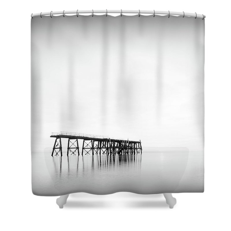 Scenics Shower Curtain featuring the photograph Sea Structure by Billy Currie Photography