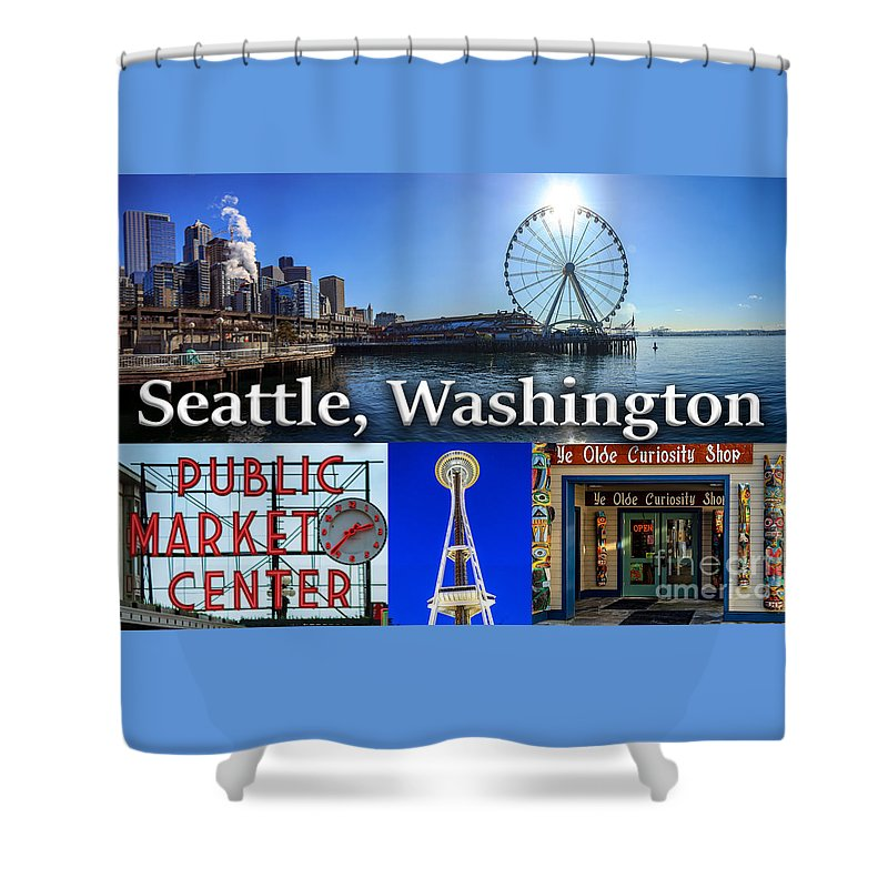 Seattle Shower Curtain featuring the photograph Seattle Washington Waterfront 01 by G Matthew Laughton
