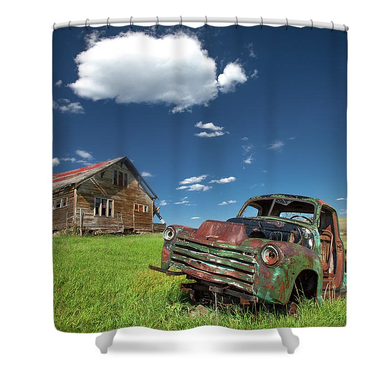 Old Shower Curtain featuring the photograph Seen Better Days by Todd Klassy