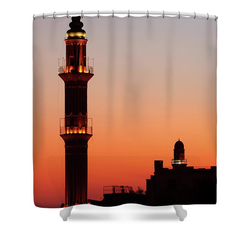 Built Structure Shower Curtain featuring the photograph Sehidiye Mosque Minaret by Wu Swee Ong
