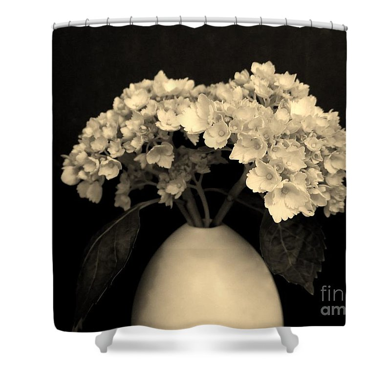 Photo Shower Curtain featuring the photograph Sepia Dainties by Marsha Heiken