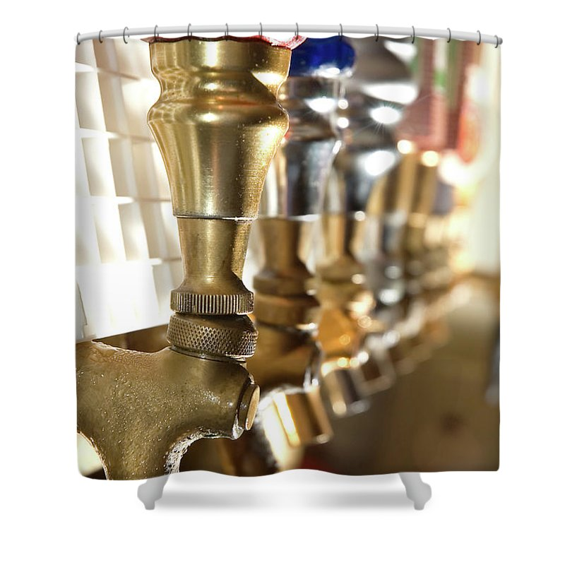 Handle Shower Curtain featuring the photograph Serve It Up by Inkkstudios